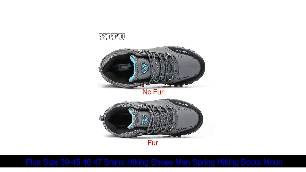 Best  Plus Size 39-45 46 47 Brand Hiking Shoes Men Spring Hiking Boots Mountain Climbing Shoes Outd