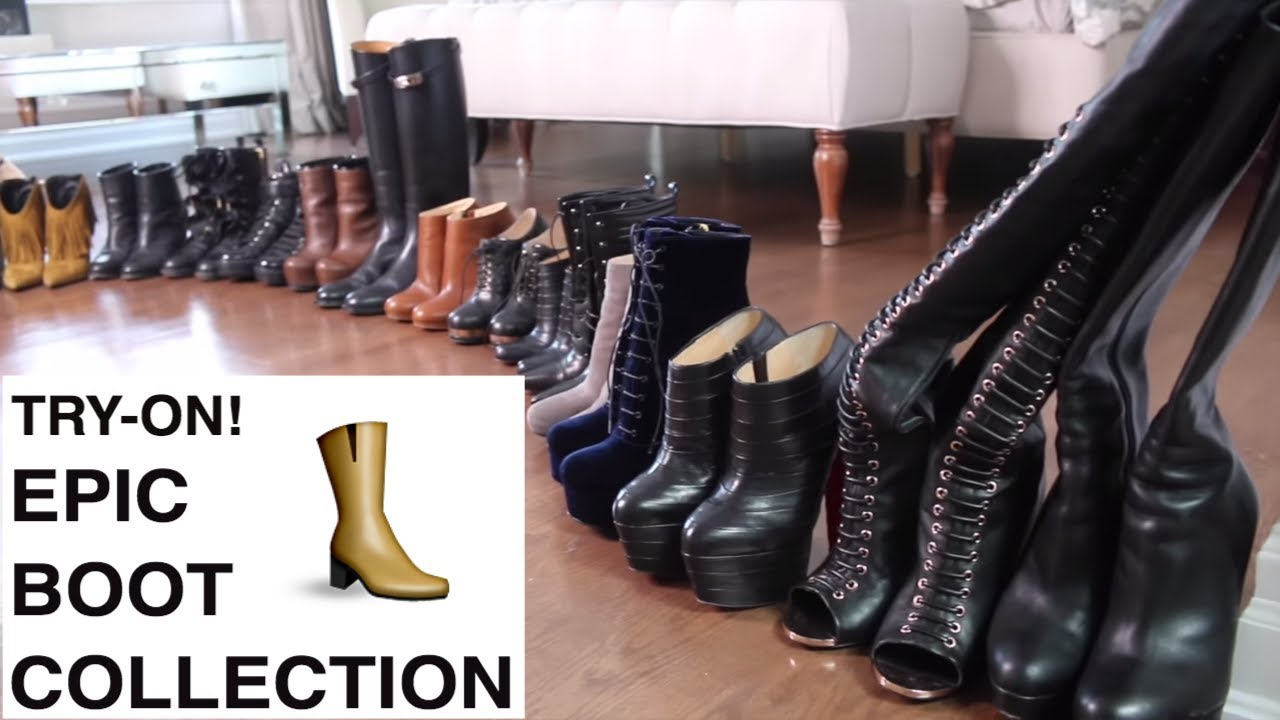 DESIGNER SHOES/BOOTS TRY ON!! Winter 2018