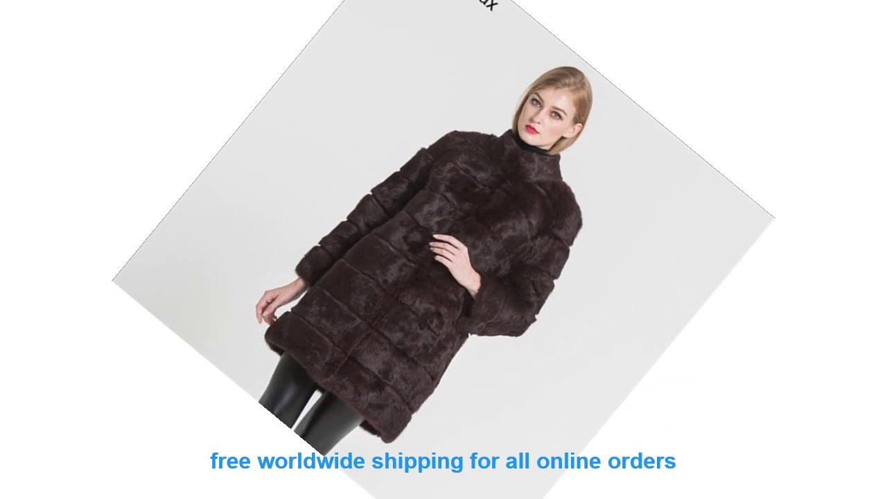 Review Jancoco Max 2019 New Winter Real Rabbit Fur Jacket Warm Soft Lo