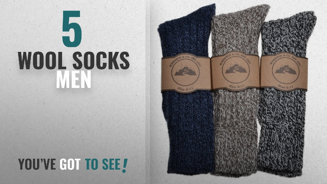 Top 10 Wool Socks Men [2018]: 3 Pairs of Mens Thick & Warm Heavyweight Socks One Size: UK Mens Shoe