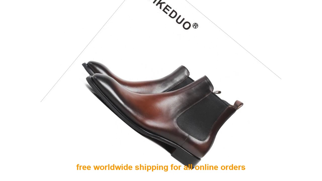 LIMITED!! Vikeduo Brand Handmade Chelsea Boots 2019 Men's Genuine Leat
