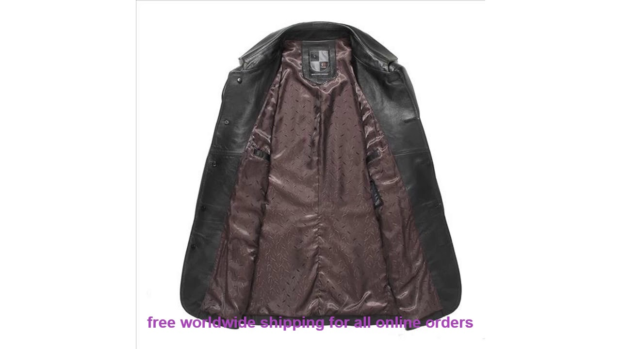 Very Cheap Gours Fall And Winter Genuine Leather Jackets For Men Brand