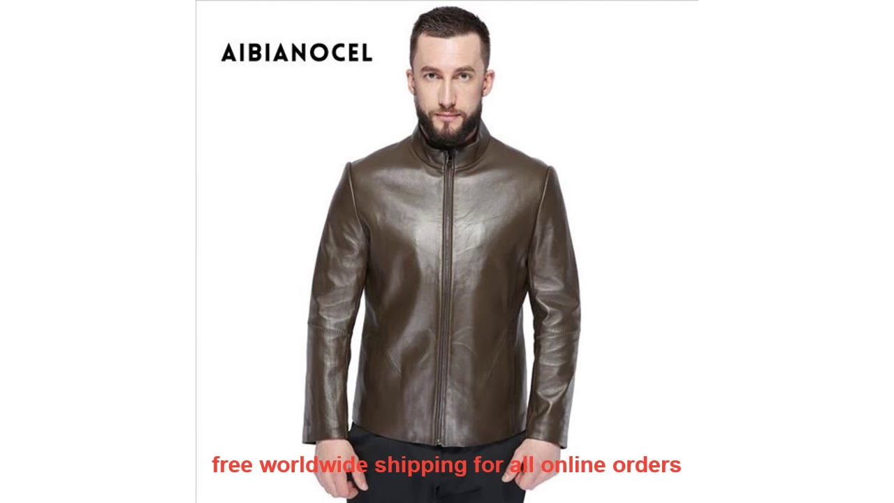 Best AIBIANOCEL 2017 Winter Fashion New Style Men's Genuine Leather Co
