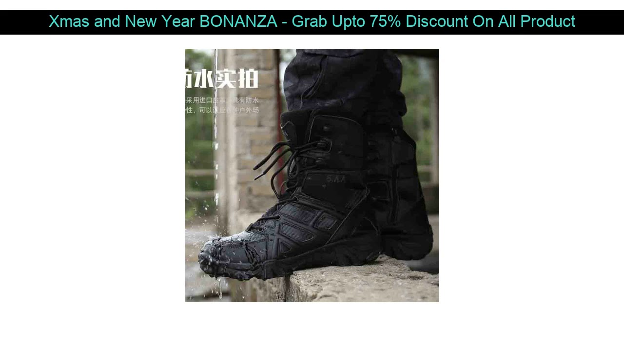 Hot Promo!  Cungel Winter Autumn Men Military Boots Quality Special Tactical Desert Combat Ankle Bo