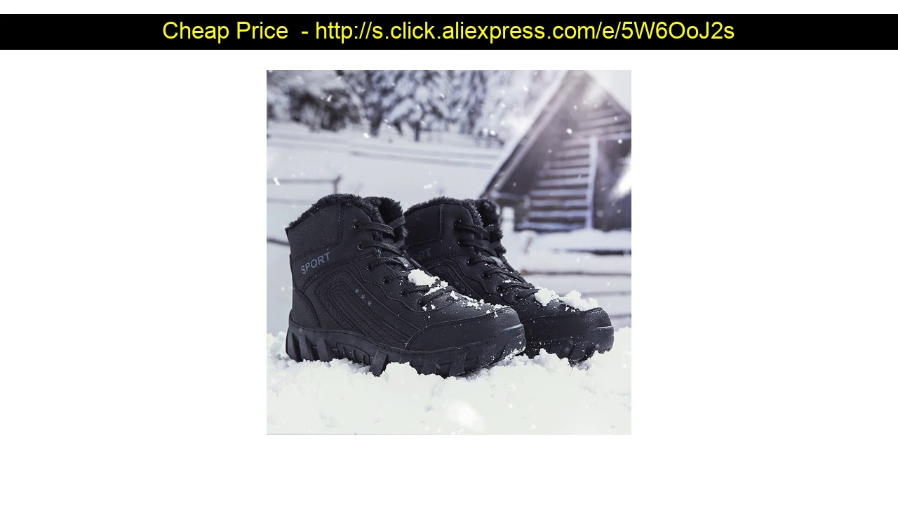 ☄ Damyuan Running Shoes Plush Heavy Cotton Shoes Warm Men's Snow Boots Casual Non-slip Men Sport Sh