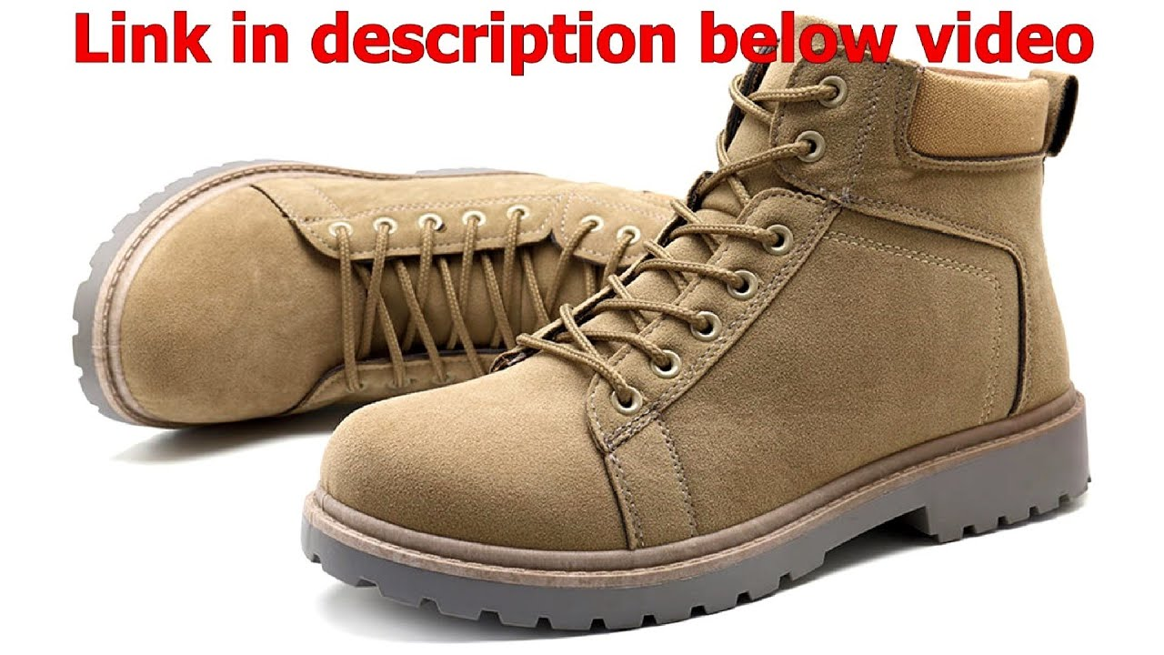 Men Comfy Outdoor Hiking Lace Up Suede Ankle Boots – Price – Buy – USA
