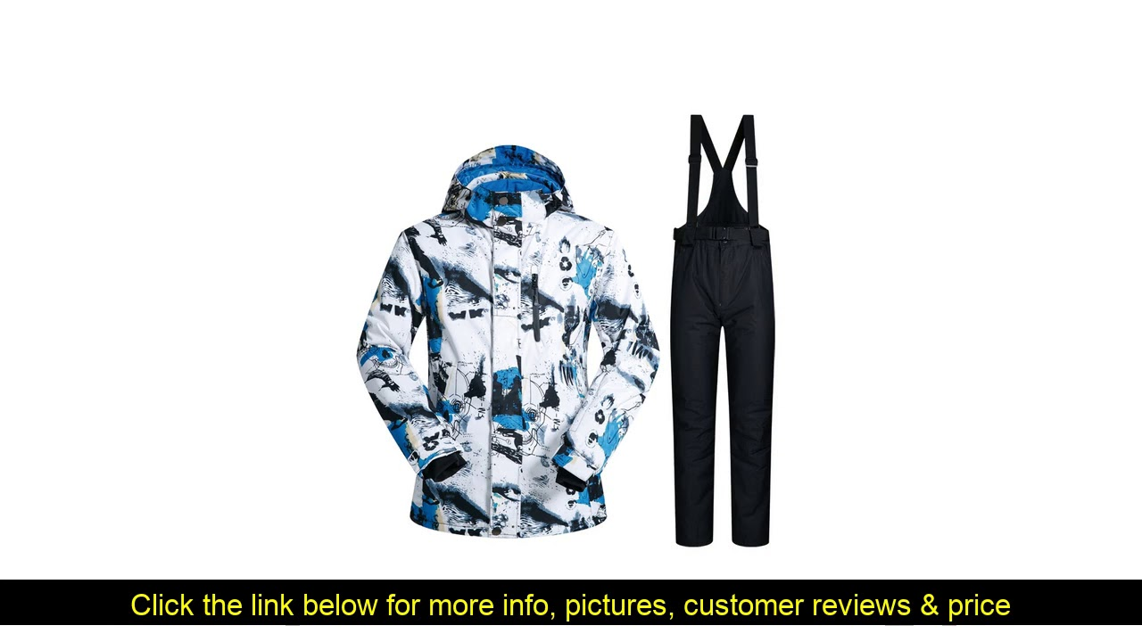 ☘️ MUTUSNOW 2019 New Outdoor Ski Suit Men Windproof Waterproof Thermal Snowboard Set Snow Male Ski