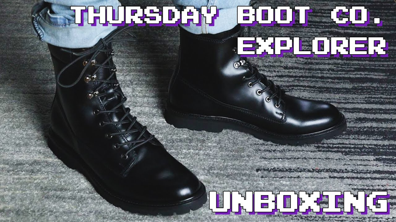 Thursday Boots Co. Explorer Black Leather Unboxing & On Feet