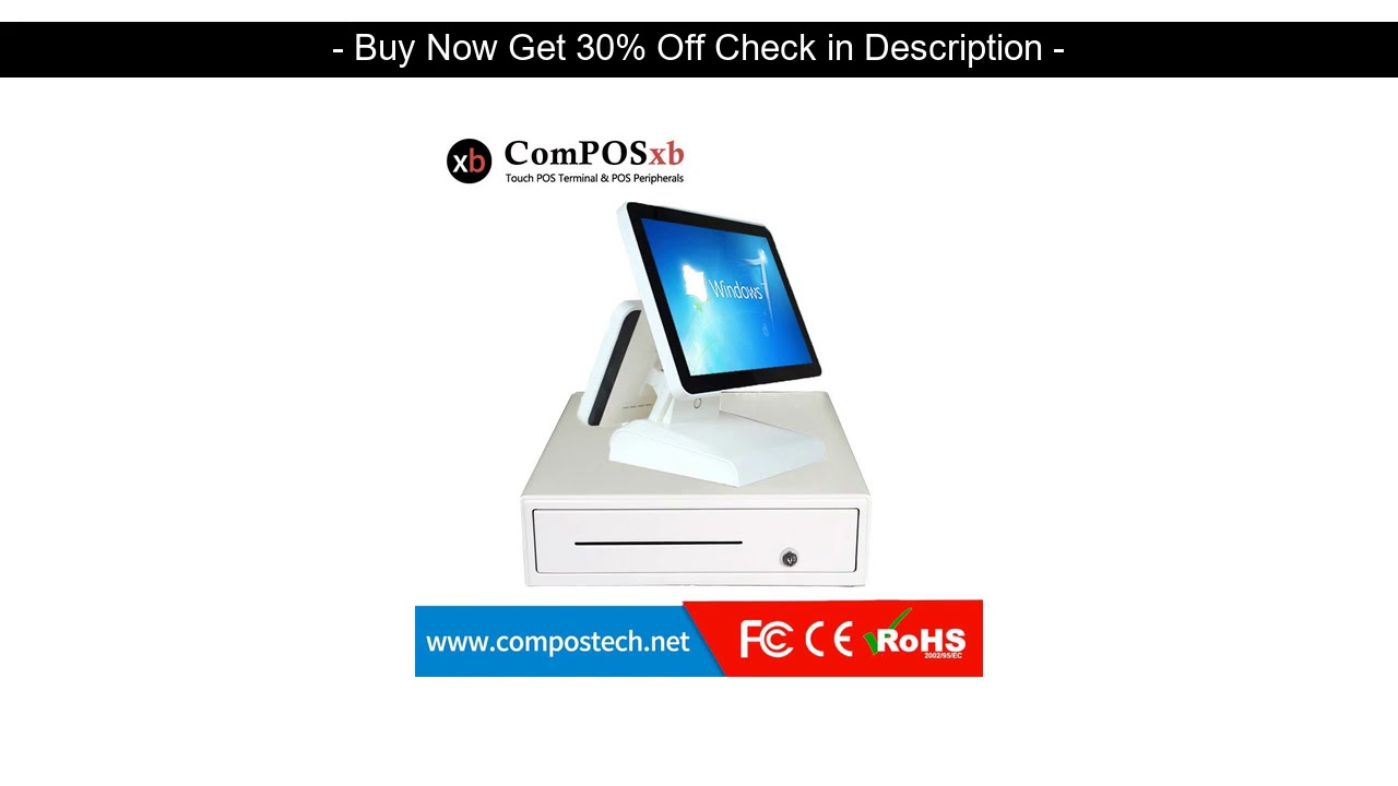 Best Quality Cheap Cashier Machine Cash Register Machine 15 Inch Touch All In One Pc With 80 Mm Pri