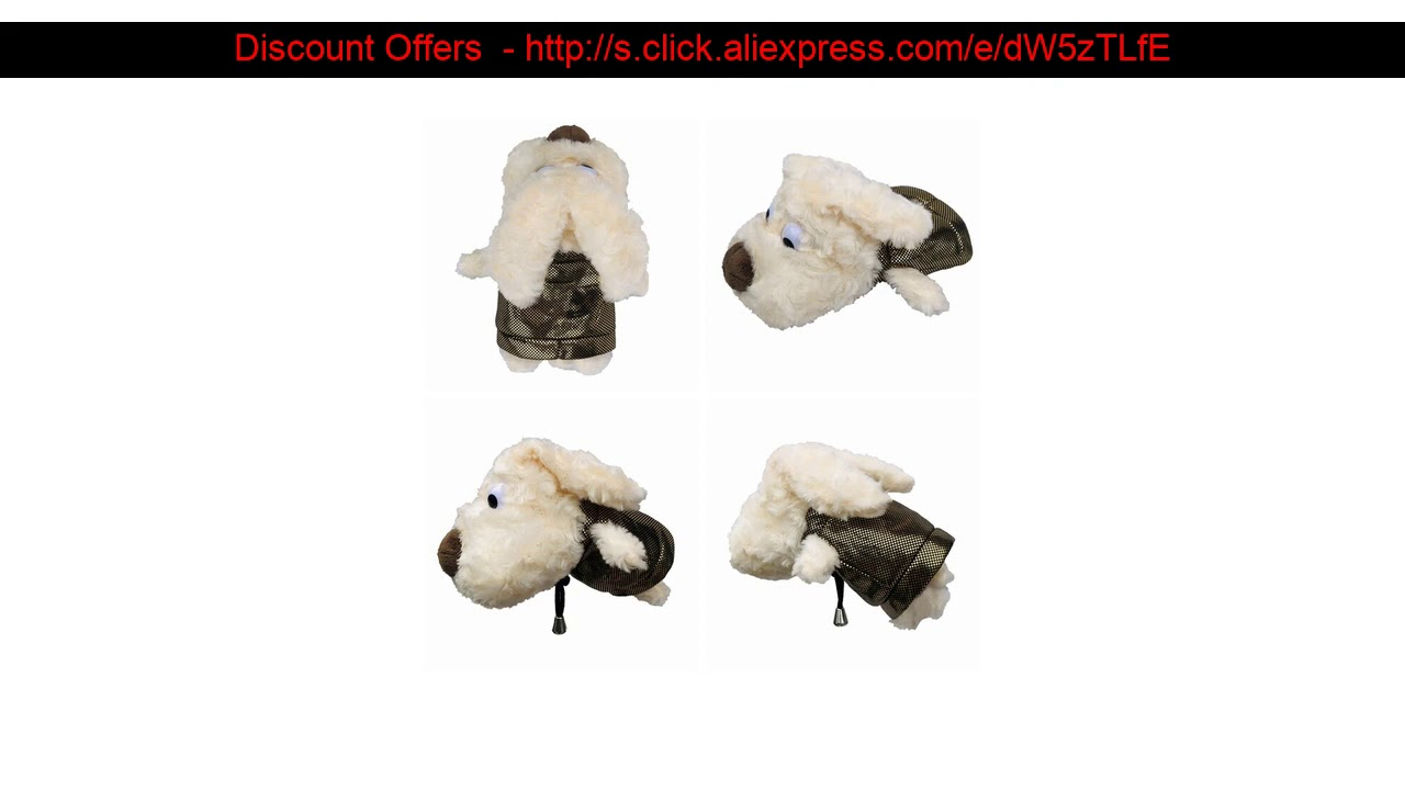 ☄ 2 Pcs/set Cute Plush Dog Golf Clubs Cover For Driver Fairway Woods Clubs Practical Outdoor Golf C