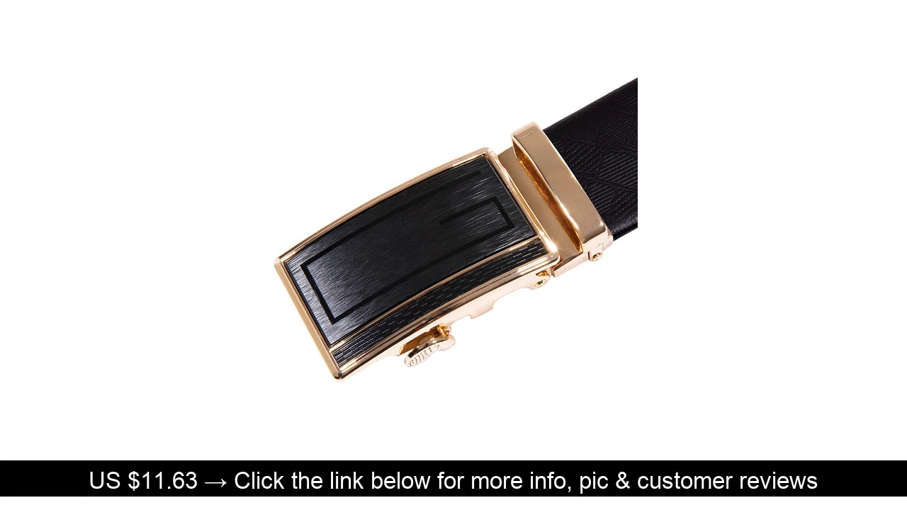 ⭐️ Luxury Box Belt Men 2019 New Fashion Gold Belts High Quality Genuine Leather Belt Men's Male Cow