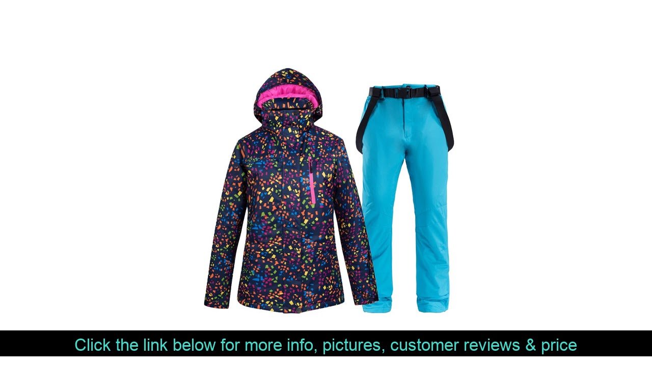 ✨ NEW Skiing Jacket And Pant Snow Suits Women Ski Sets Warm Waterproof Windproof Snowboarding Sets
