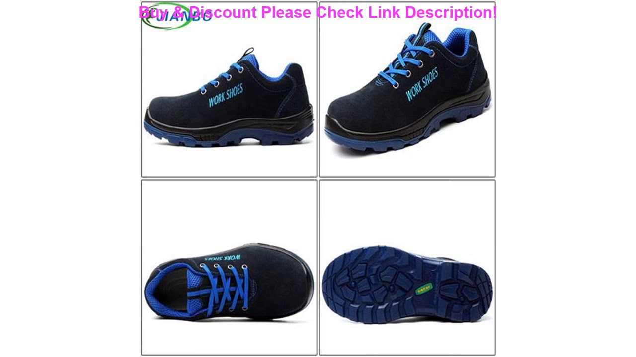 Men's Breathable Steel Toe Safety Shoes With Puncture Proof Midsole Slip Resistance Breathable Sne