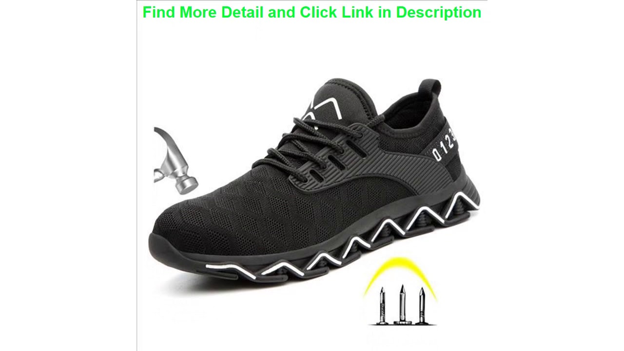 Best Men's Fashion Light Steel Toe Anti Smashiong Work Shoes Men Outdoor Puncture Proof Safety Shoe