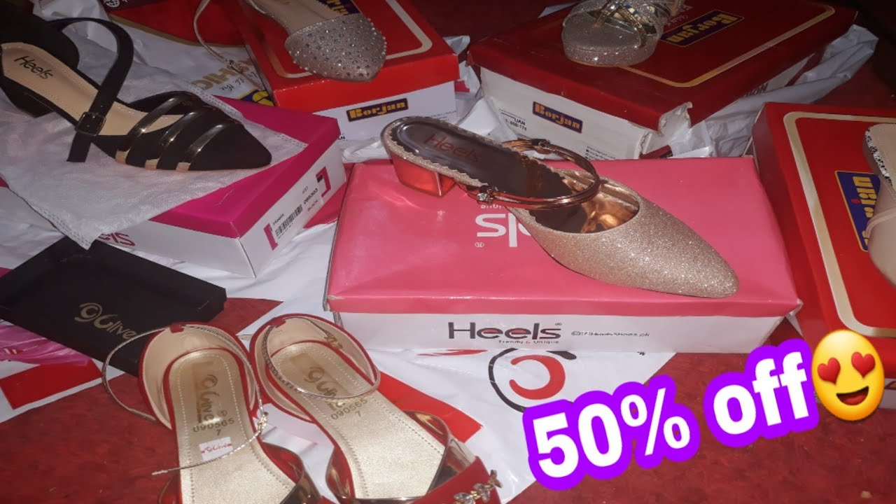 Winter Sale Flat 50% off Heels Shoes , borjan shoes , Clive shoes – Vlogs for all
