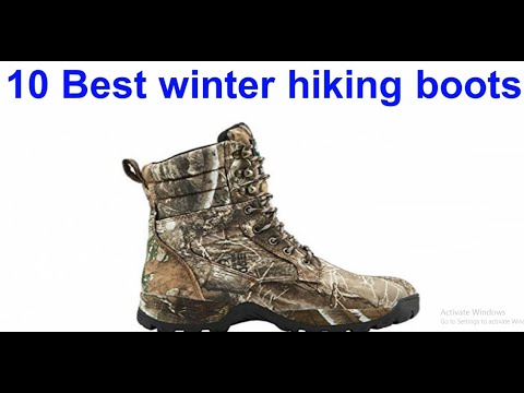 10 best winter hiking boots 2020