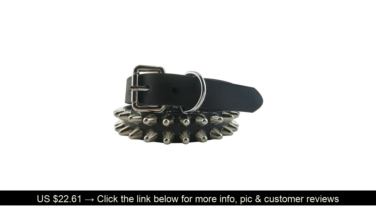 ☀️ Punk Rock Music Band Guitar Player Alloy Studded Vegetable Tanned Leather Belt 3.3cm Width Cheap