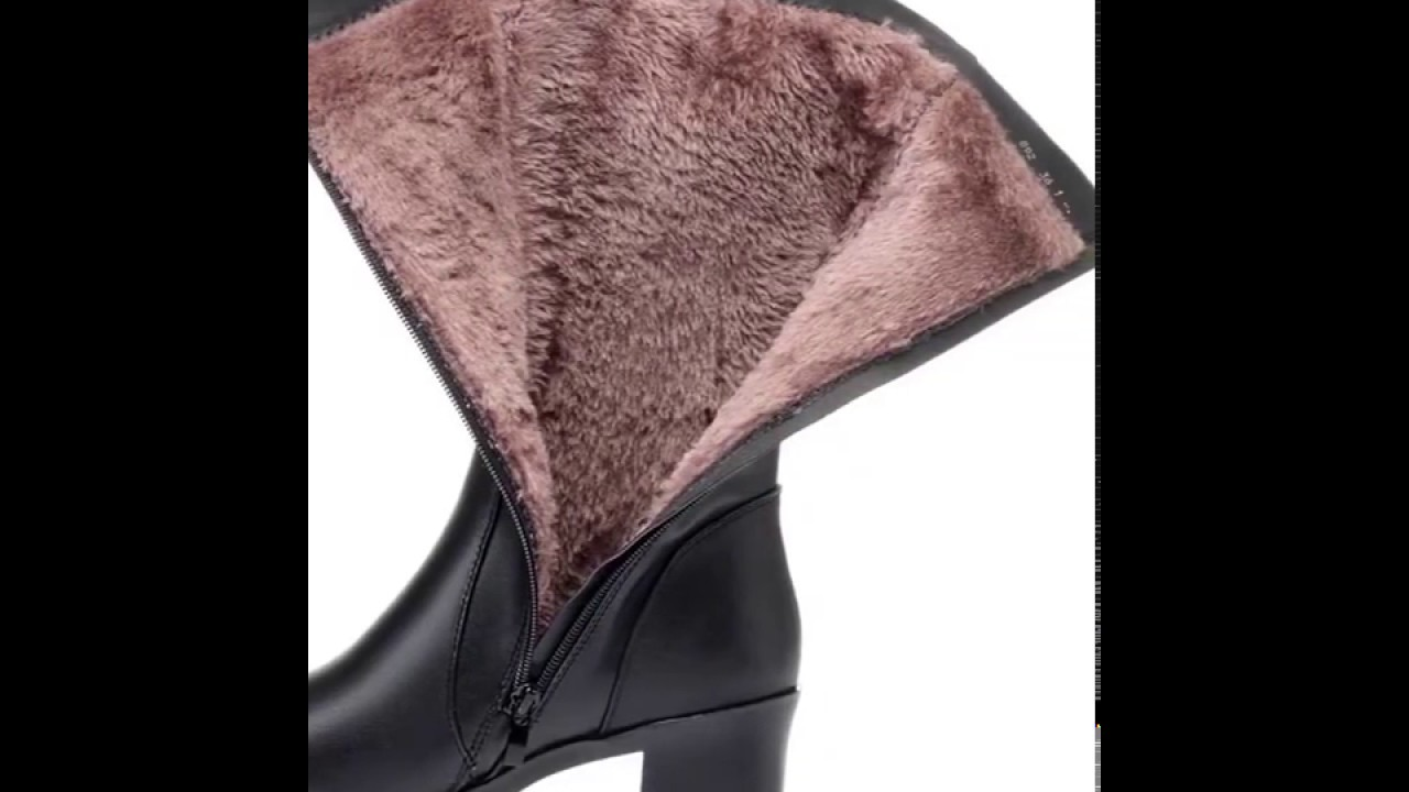 Genuine Leather & Wool Winter Boots ~ Shoe Outlet Shop.com