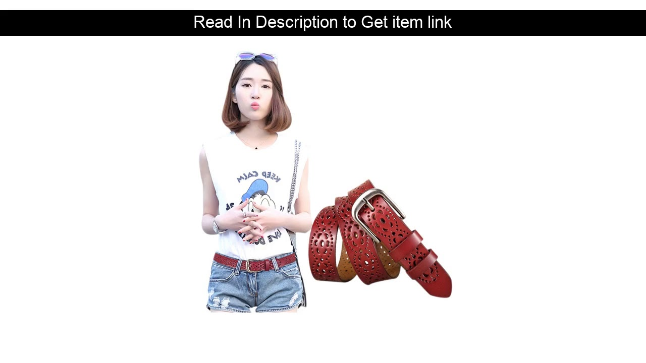 Get Discount  Women Fashion Wide Genuine Leather Belt Floral Carved Cow Skin Belts For Jeans Top Qu