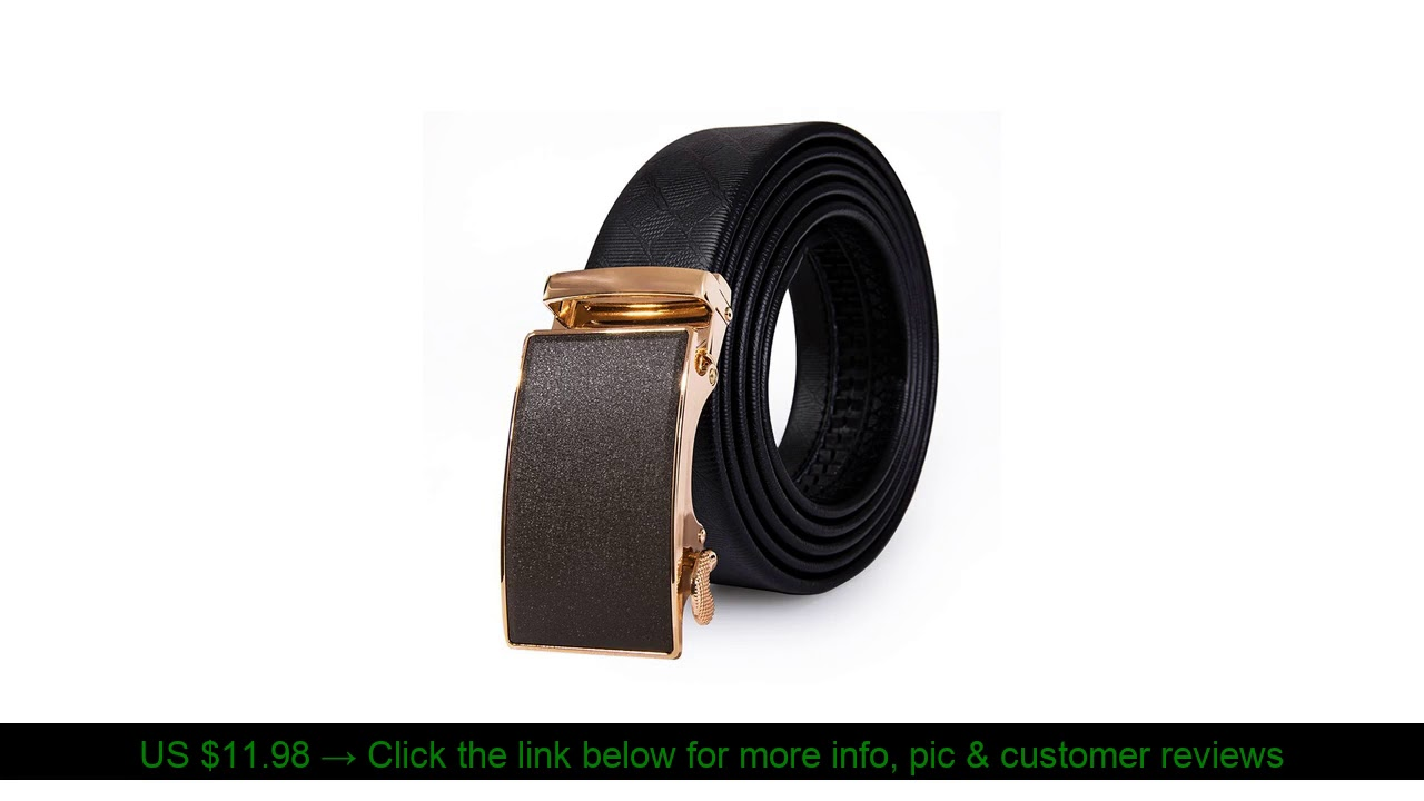 ☀️ 2019 New Popular Designer Leather Belt Men Box Belts Fashion Gold Automatic Buckle Belt Genuine